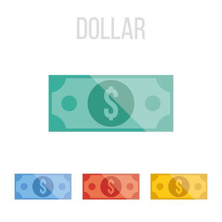 dollar sign icon: Vector dollar icons Illustration