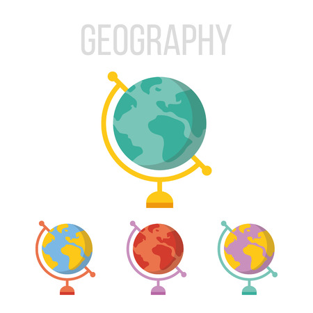 site map: Vector globe icons Illustration