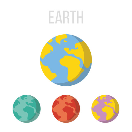 earth color: Vector Earth icons