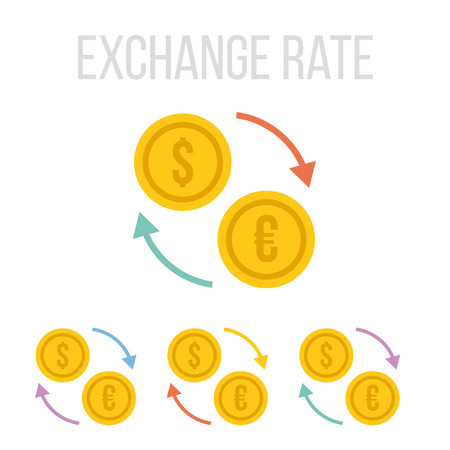 exchange rate: Vector exchange rate icons