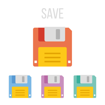 legacy: Vector floppy disk icons