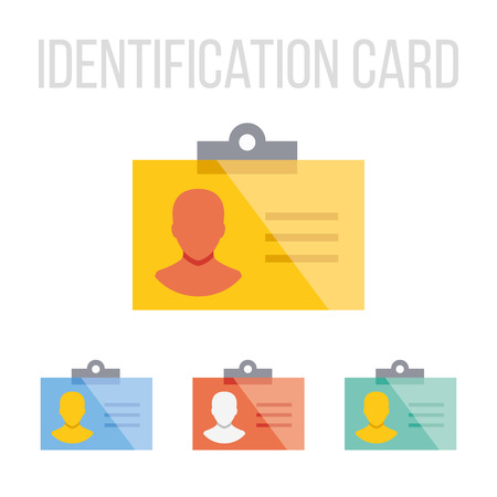 driver license: Vector identification card icons