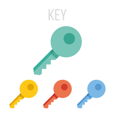 house keys: Vector key icons