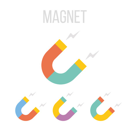 torrent: Vector magnet icons