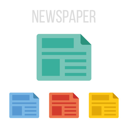 read magazine: Vector newspaper icons