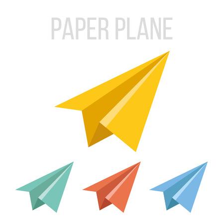 Vector papieren vliegtuig pictogrammen