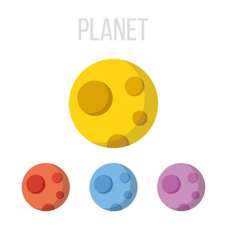 martians: Vector planet icons