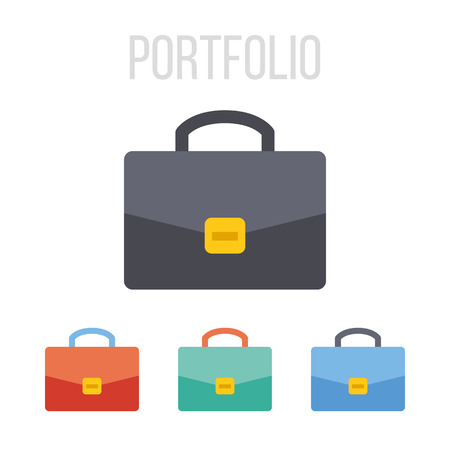 attache: Vector briefcase icons Illustration
