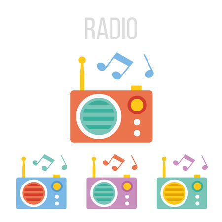 Vector radio icons Stock Vector - 36658968