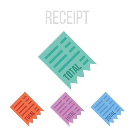 Vector receipt icons