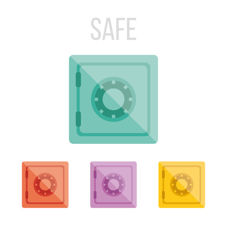 safe investment: Vector safe icons