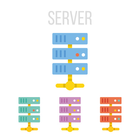 datacenter: Vector server icons