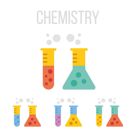 test glass: Vector test tube icons