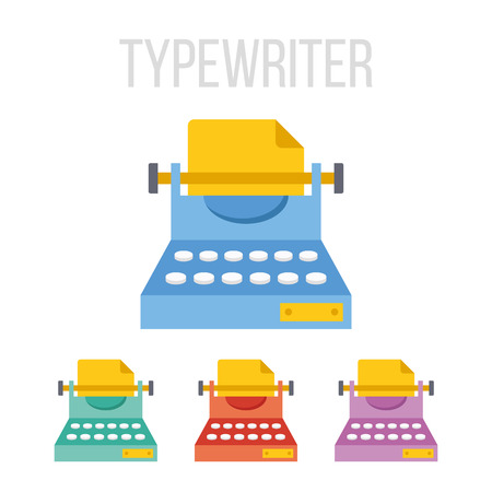 copywriting: Vector typewriter icons