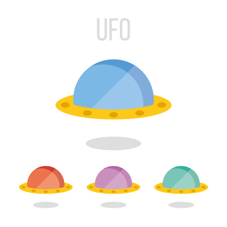 restricted area sign: Vector UFO icons Illustration