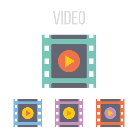 mpg: Vector video frame icons