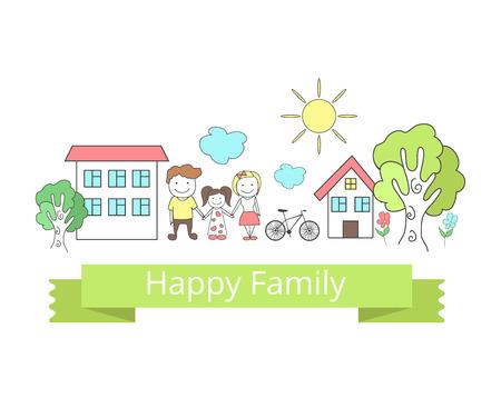 Happy family. Vector illustration Vector