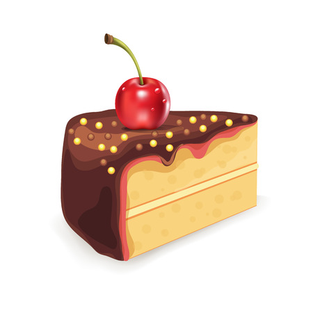 porcion de pastel: Torta Vector ilustración Vectores