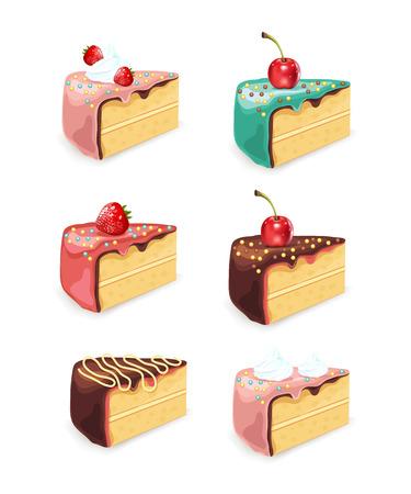 Vector cake set illustration Illustration