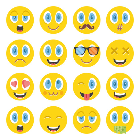 laugh emoticon: Awesome vector emoticons set