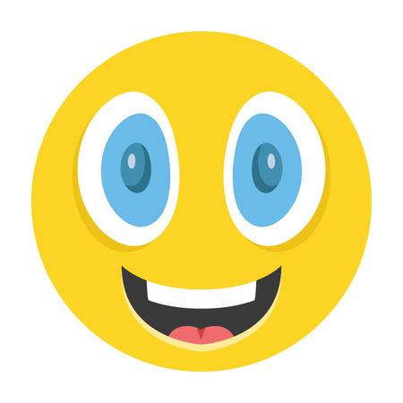 cara feliz: Emoticon feliz ilustraci�n vectorial