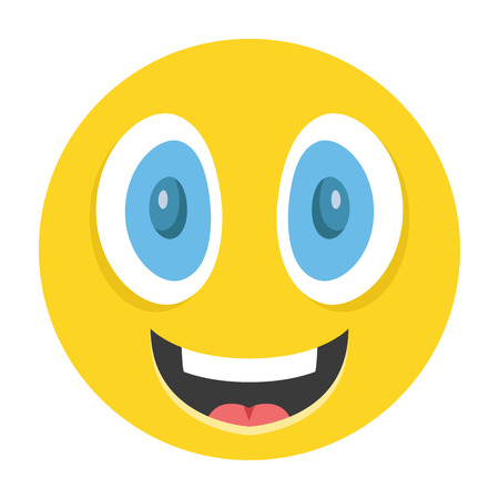 Happy emoticon vector illustration Illustration