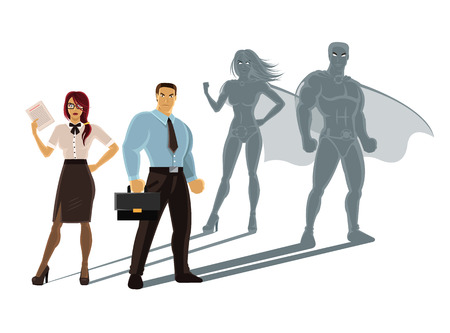 super human: Vector super business people illustration