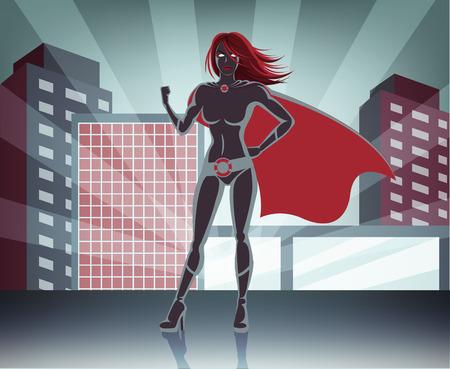 superheroine: Vector super woman illustration
