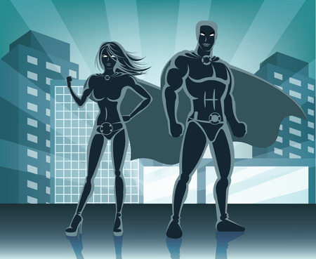 superheroine: Superheroes vector illustration Illustration