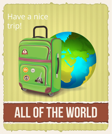 tour operator: Vector tourism illustration Illustration