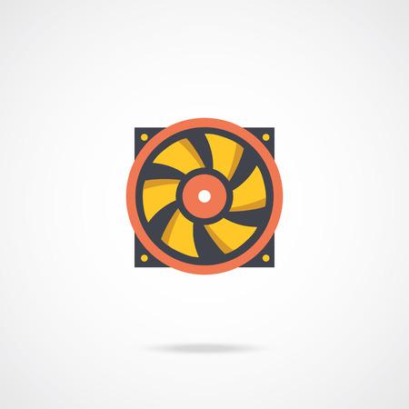 heat sink: Vector computer fan icon