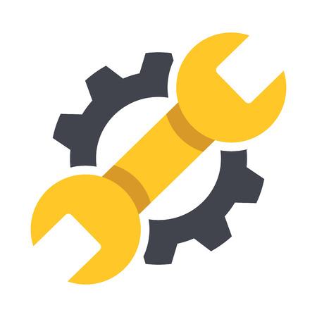 engranajes: Icono de reparaci�n. Ilustraci�n del vector. Vectores