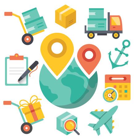 shipment: Delivery illustration. Logistic concept.