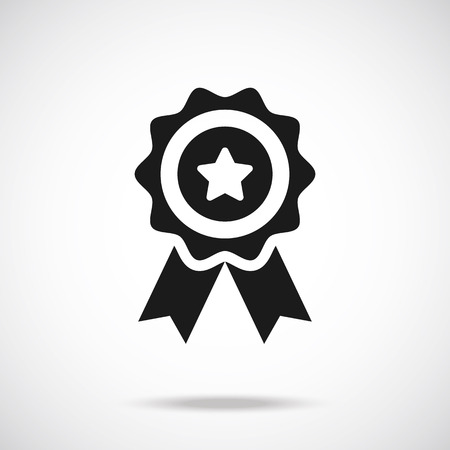 ribbon award: Award icon. Vector illustration