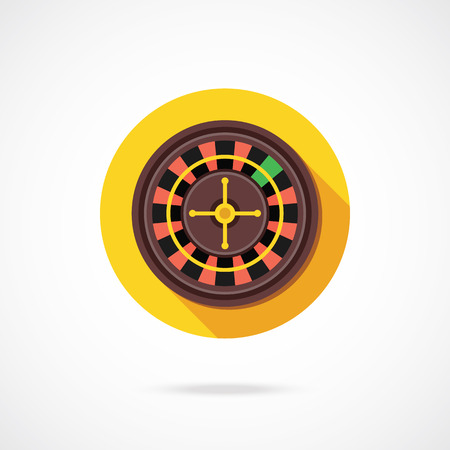 wheel of fortune: Casino roulette icon. Vector illustration Illustration