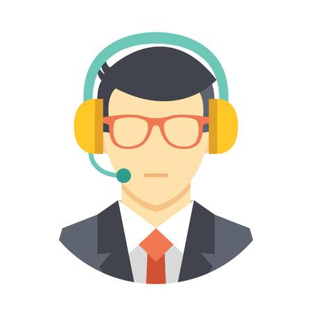 Call center operator icon Illustration