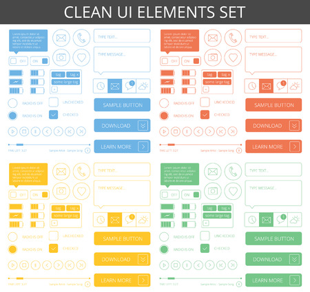 web: Clean minimalistic elements for web and mobile