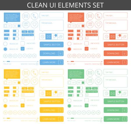 Elementos minimalistas limpias para web y móvil Foto de archivo - 38433616
