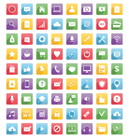 web: Universal web icons and mobile icons