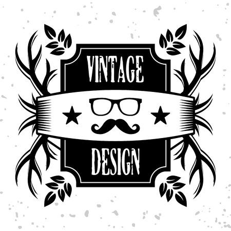 mustaches: Vintage banner 8