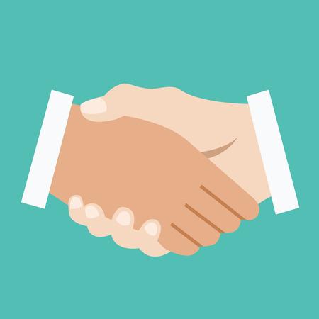 bargain: Handshake. Successful business or bargain concept.