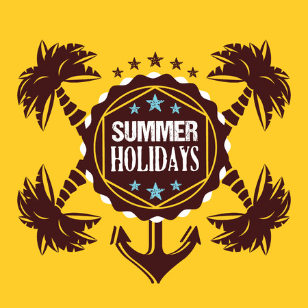 Creative summer holidays illustration Vector