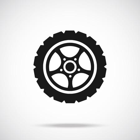 Tire icon Black icon.