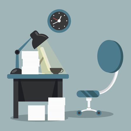 the paperwork: Modern workplace room. Paperwork in office concept