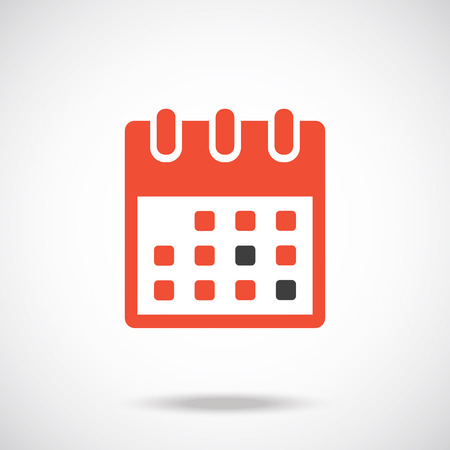 Red Calendar Icon Vector