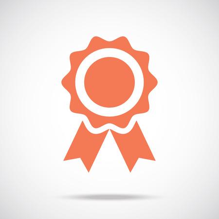 Award pictograph. Medal icon concept Vector
