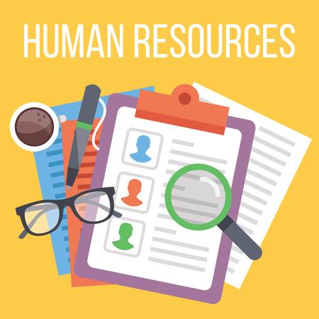 portapapeles: Recursos humanos. Buscar proceso de candidato Vectores