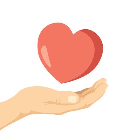 mercy: Charity flat illustration Illustration