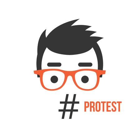 activism: Protesta, red social la actividad flashmob ilustraci�n plana concepto