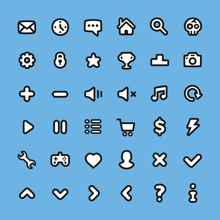 web icons: Flat line web icons set. Universal icons for web, mobile